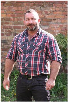Muscle Daddy Bear. Men. Beards. Going Grey. Woof!