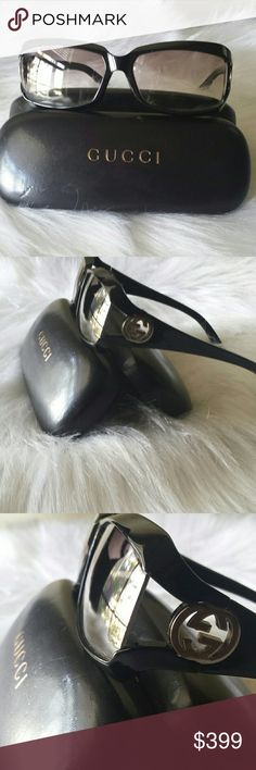 AUTHENTIC GUCCI SUNGLASSES W/CASE Gucci sunglasses with logo Gucci Accessories Sunglasses