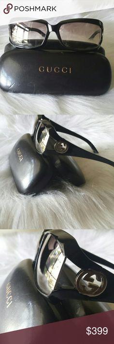 💯AUTHENTIC GUCCI SUNGLASSES W/CASE Gucci sunglasses with logo Gucci Accessories Sunglasses