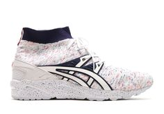 Looking like some funfetti birthday cake, the new ASICS GEL-Kayano Trainer Knit gets a unique new colorway sporting a detailed heather textile upper. Actually in a somewhat patriotic looking combination of red, white, and blue, the tasty new look features … Continue reading →