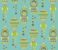 buttons to the moon fabric by scrummy on Spoonflower - custom fabric