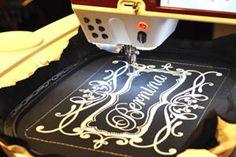 beautiful Bernina logo embroidery design freebie