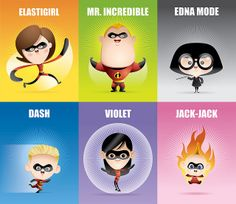 Kawaii Incredibles (Trading Cards Style) by Jerrod Maruyama, via Flickr