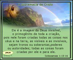 Salmos - Proverbios e passagens da Bíblia: A Supremacia de Cristo (Colossenses 1:15-23)