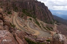 Jacob's Ladder, Ben Lomond National Park, Tasmania, Australia    Looks like a road I drove up in Utah.. gravel and steep inclines, but AMAZING views.