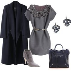 Love this Grey and Navy look....need to fit that jacket better however...better style line.