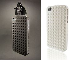 LEGO(ish) iPhone Cases. If only I really could put Vader on the top of my phone and use the saber as an antenna/signal amplifier. haha