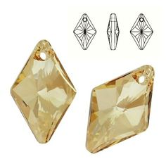 6320 Rhombus 27mm Golden Shadow  Dimensions: 27,0 mm Colour: Crystal Golden Shadow ( Crystal GSHA ) 1 package = 1 piece