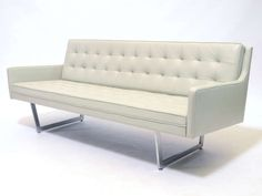 Leather Sofa by Patrician, circa 1960-69 | PEGBOARD MODERN