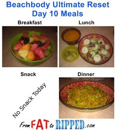 Beachbody Ultimate Reset Day 10 Meals