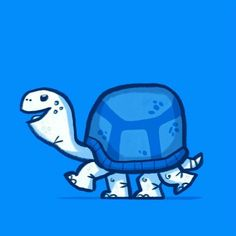 Turtle Love, Turtle Sketch, Artsy, Snoopy, Drawings, Illustration, Blue, Wallpapers, Fictional Characters