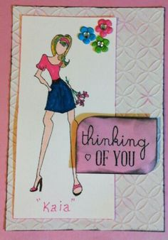 "Julie Nutting ""for you"" stamp set - birthday card"