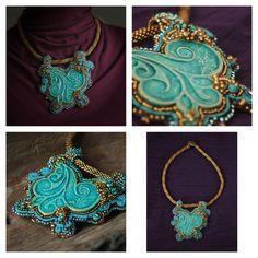 necklace. ceramic, beads.