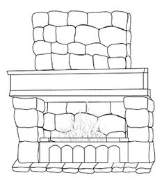 Fireplace In Winter Night Printable Coloring Pages : wheschool. Winter Night, Kindergarten Worksheets, Printable Coloring Pages, Coloring Pages For Kids, Household, Projects To Try, Room Decor, Throw Pillows, Texture