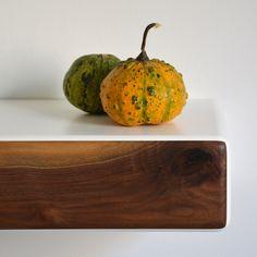 October bedroom mood with pumpkin Floating Nightstand, Serving Bowls, Nightstands, Fruit, Pumpkins, Tableware, October, Mood, Bedroom