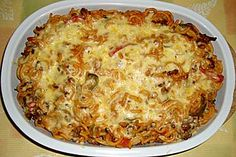 Russischer Nudelauflauf Chicken Breast Recipes Healthy, Healthy Recipes, Lasagna, Macaroni And Cheese, Zucchini, Low Carb, Clean Eating, Spaghetti, Food And Drink