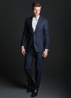 Billy Reid Campbell Patch Suit - Navy