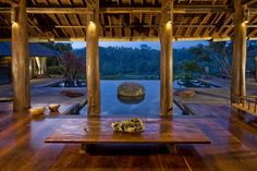 Jungle retreat in Bali, Indonesia - Owner Chris Gentry, born in California, commissioned Architect Cheong Yew Kuan to build a home which combined both him and his wife's personalities.