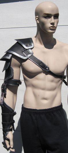 Custom crafted leather full arm armor
