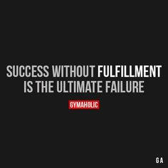 Success Without Fulfillment