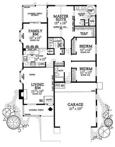 Country House Plans - Home Design HW-5508 # 17922