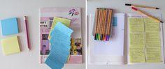 Leitura boa + post-its + canetas coloridas #vícios