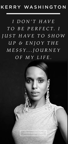Don't be perfect. #ContessaQuotes #KerryWashington #Scandal