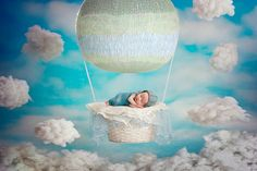 fairytale, baronmuenchhausen, baloon, fly, heaven, digitalbackdrop, sashachomakov, newborn, boy