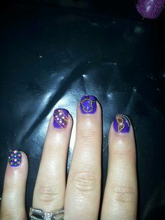 Mardi gras nail art design a Mamu nails creation check out www.MyNailPolishObsession.com for more nail art ideas.