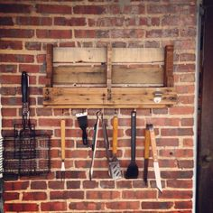 Pallet rack for grilling utensils and anything GRILL