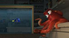 Can't Wait!  Dory (Ellen DeGeneres) has a run-in with (Ed O'Neil). (Disney Pixar)