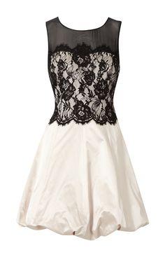 black and white clothing | Cheap Karen Millen Lace Bubble Dress Black and White Online Shop ...