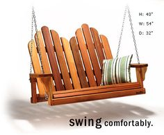 Baldwin Lawn Furniture Loveseat Swing  I enjoy this exact swing on my front porch April through September.... love it!