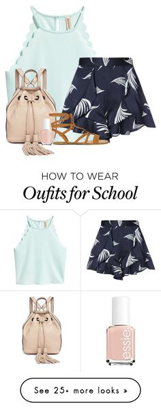 """Seeing you isn't making me dread school "" by dejonggirls on Polyvore featuring C/MEO COLLECTIVE, Rebecca Minkoff and Essie"
