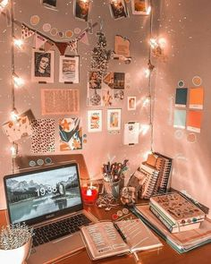 Indie Room Decor, Bedroom Decor, Bedroom Ideas, Bright Bedding, Modern Kids Bedroom, Christmas Collage, Neon Room, Desk Inspiration, Gaming Room Setup