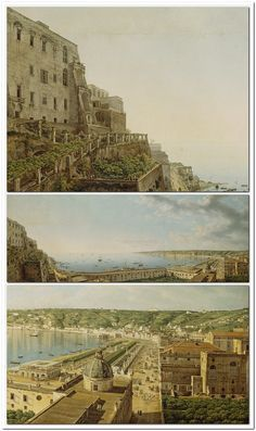 Giovanni Battista Lusieri, A View of the Bay of Naples, 1791.