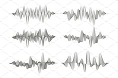 Architectural Drawing Patterns Set of sound waves. by Woters little shop on Music Waves, Sound Waves, Waves Audio, Wave Design, Swirl Design, Sound Design, Sound Wave Tattoo, Wave Drawing, Tatoo