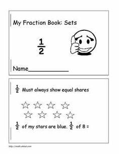 math worksheet : your 2nd grader will love this printable fractions book  : Fraction Sets Worksheets
