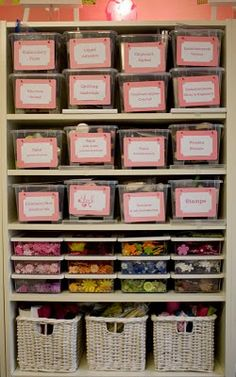 Label And Use For Organizing Craft Supplies Room Closet