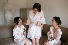 Real Weddings: Bride gives her bridesmaids 'thank you' gifts. http://www.easyweddings.com.au/real-weddings/puppy-love-romantic-wedding-remember-jane-adrian/