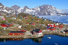 Tasiilaq on Ammassalik Island - Sermersooq, Greenland.