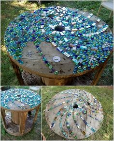 If any space in your home is in need of any kind of table either big or small then how about doing some recycling? A cable spool can be transformed into a