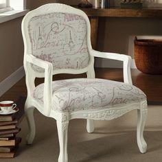 paris theme accent chair | Living Room Re-decorate / Paris Theme Accent Chair.