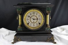 Antique Seth Thomas Adamantine Mantel Clock Movement #4 1/2 Bell & Gong by BCScollectibles on Etsy