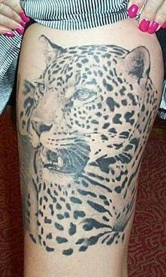 One of the best leopard tattoos I've seen. They never seem to get it quite right