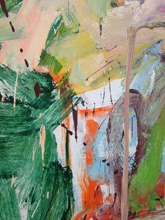 Willem de Kooning painting close-up