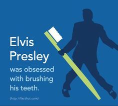 Apps to Benefit Your Dental Hygiene Wow! Elvis was obsessed with brushing his teeth. How many times a day do you brush? Elvis was obsessed with brushing his teeth. How many times a day do you brush? Humor Dental, Dental Hygiene, Dental Health, Oral Health, Health Care, Funny Dental Quotes, Radiology Humor, Nurse Humor, Elvis Presley