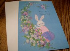 Vintage American Greetings Easter Card Spring Unsigned Happy Easter!  Secret Pal Card by kd15 on Etsy