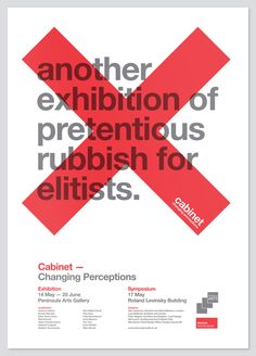 NIce posters an concept ...Cabinet by Buddy, via Behance