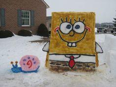 Snow Creation! SpongeBob SquarePants and Gary